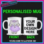 CUTE ELEPHANT LADIES MUG PERSONALISED GIFT 002